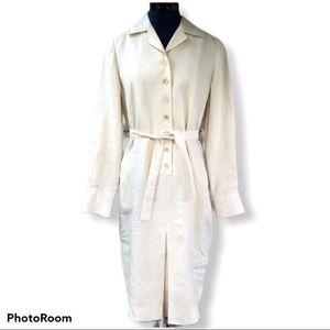 Brooks Brothers | Irish Linen Pale Yellow Dress